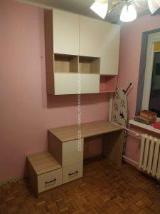 montaz szafy z biurkiem
