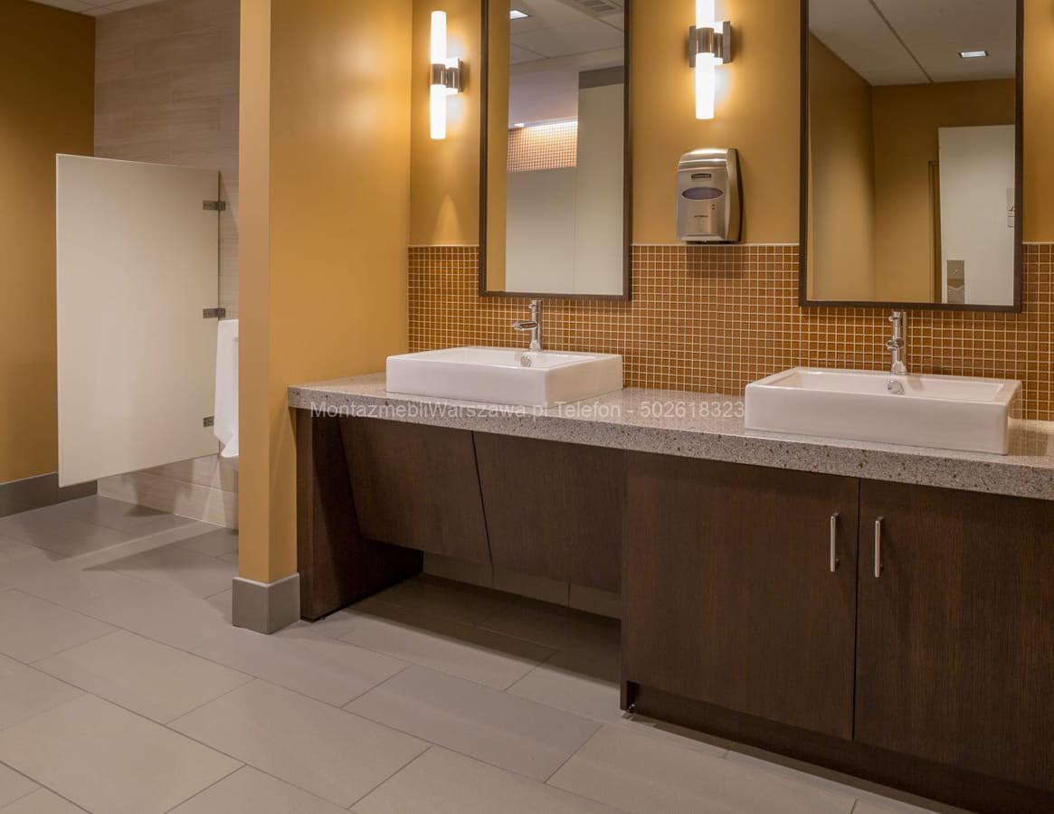 warszawa skręcanie mebli łazienkowych dla lokali