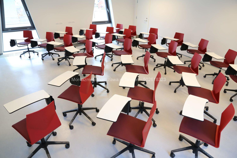 warszawa składanie montaż mebli do sal lekcyjnych